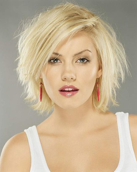 short haircuts for round faces. Photo of Short Hairstyles For