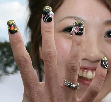 acrylic nail art. With nail art like this,