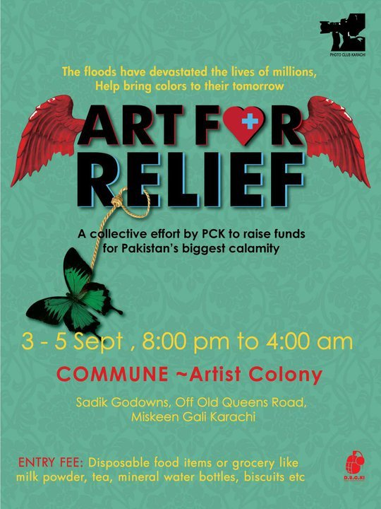 Art for relief pakistan flood