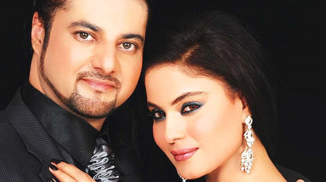 Veena Malik with Faisal Akbar Khan