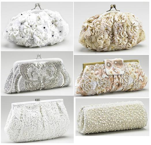 wedding clutch bridal - White Cluthches :)