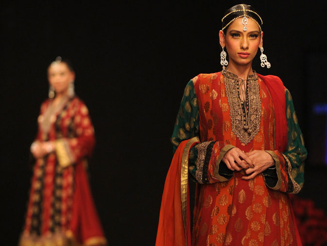 A creation by Pakistani designer Rehana Saigol.