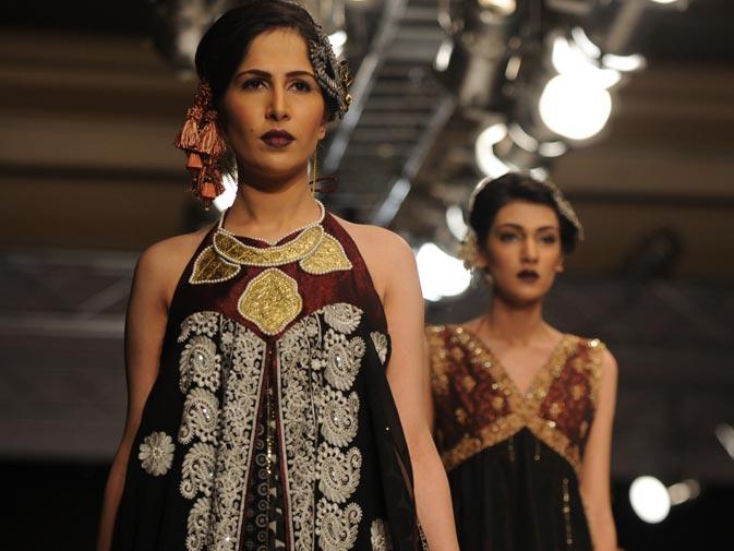 Creations by Pakistani designer Shaiyanne Malik.