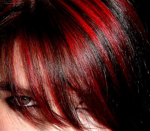 dark hair with pink highlights. Latest Hair Trends in 2011