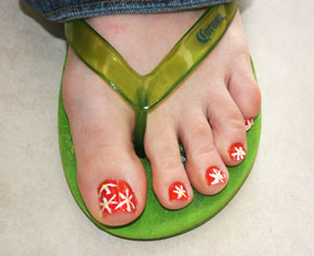 Nail designs for toes pictures toe nail art is another form of nail art which is quite hip and makes you prinsesfo Image collections