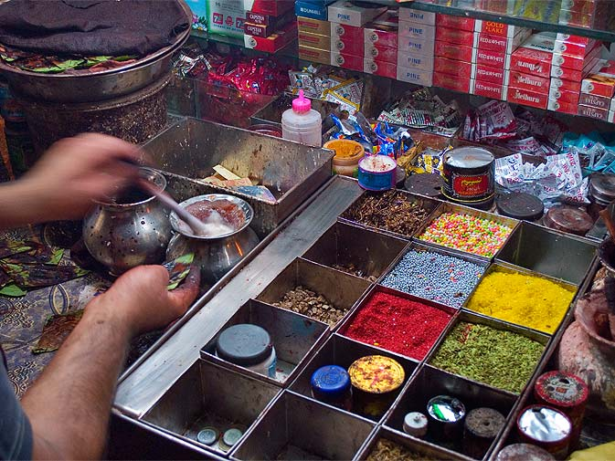 Paan Shop at Burns Road karachi