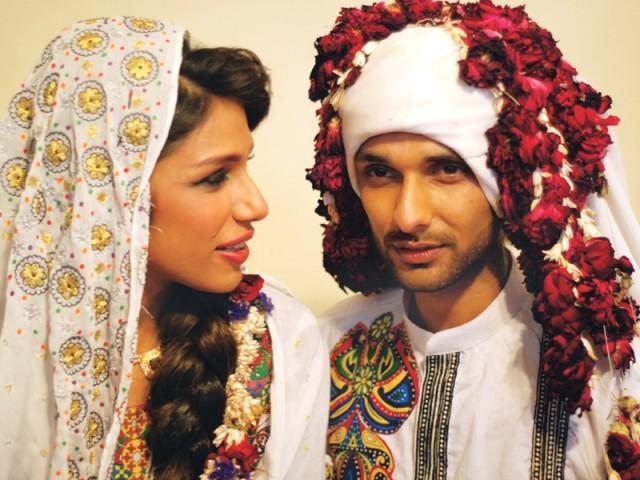 Syed Rizwanullah and model Fayezah Ansari wedding