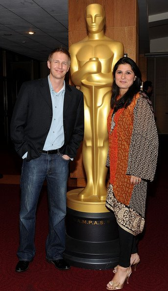 Oscar Nominee Sharmeen Obaid-Chinoy wears Sana Safinaz's upcoming Export Pret-a-Porter at the 84th Annual Academy Awards screening event