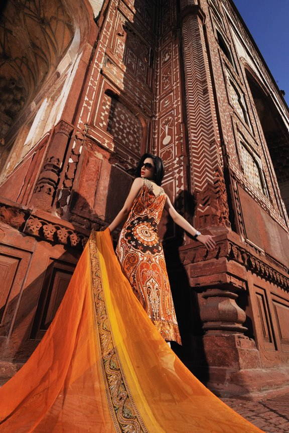 Sobia Nazir Lawn Collection 2012 Prints and Prices (1) orange