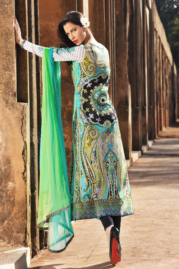 Sobia Nazir Lawn Collection 2012 Prints and Prices (2) torquoise
