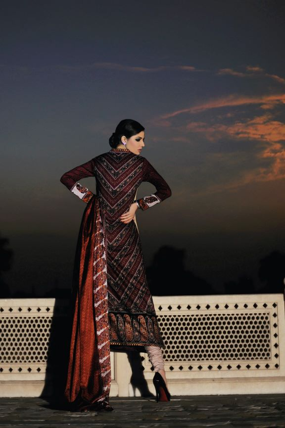 Sobia Nazir Lawn Collection 2012 Prints and Prices (3) maroon