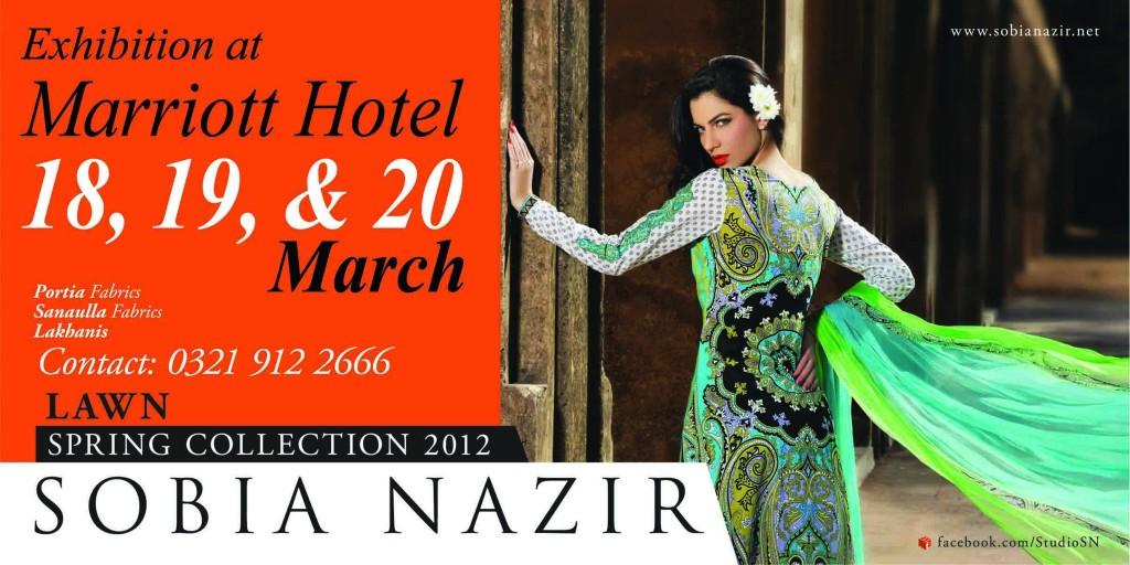 Sobia nazir Lawn collection exhibition in Karachi