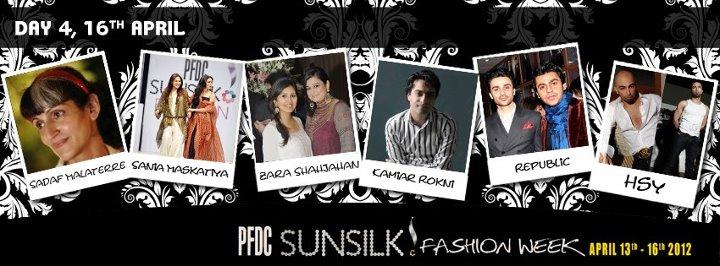 PFDC Sunsilk Fashion Week 2012 day 4