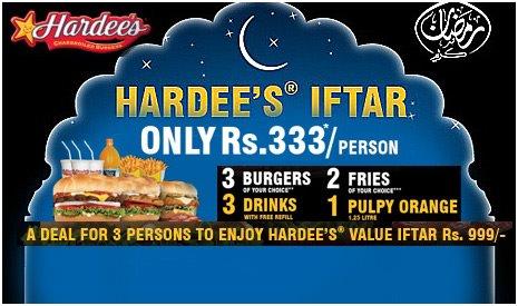 Hardees iftar Deal 2012